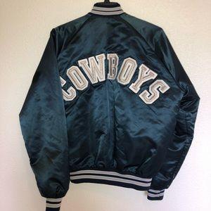 Vintage Dallas Cowboys Chalkline Satin Jacket L
